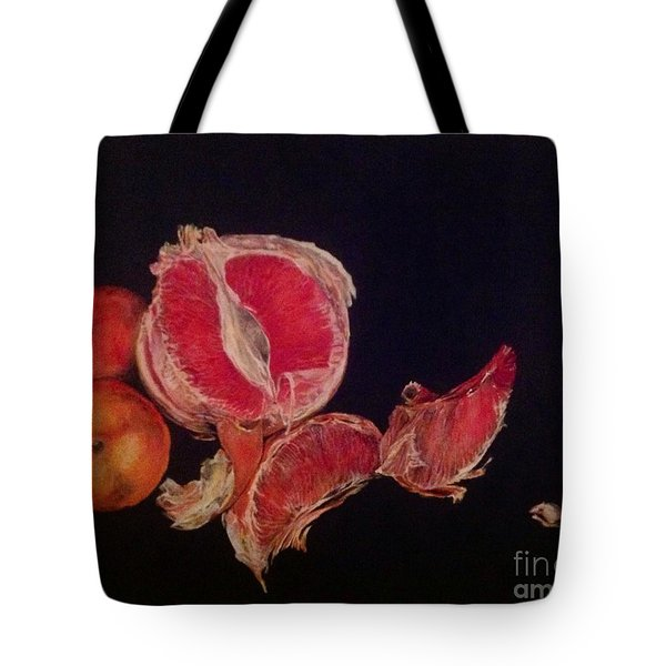 Pink Zest Tote Bag by Iya Carson