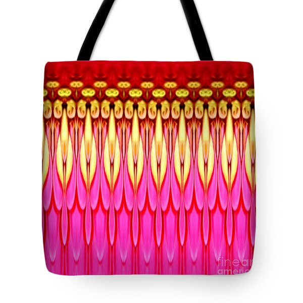 Tote Bag featuring the photograph Pink Zinnia Polar Coordinate by Rose Santuci-Sofranko