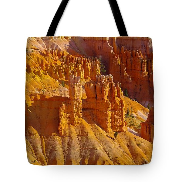 Pinnicles At Sunset Point Bryce Canyon National Park Tote Bag by Jeff Swan