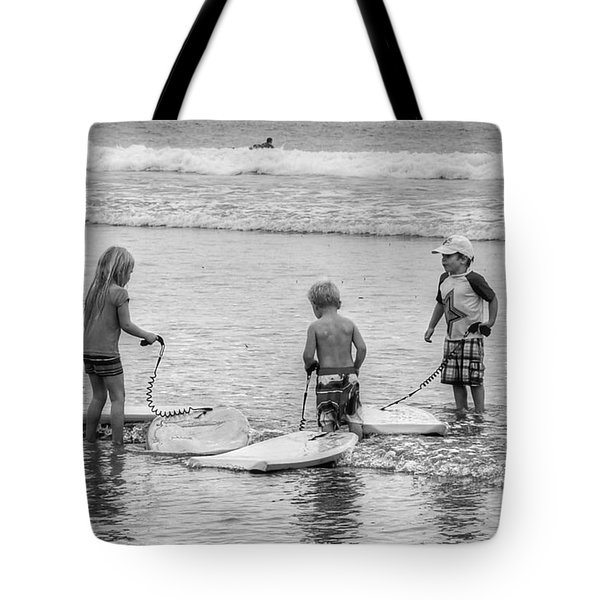 Pint Size Boogie Boarders Tote Bag