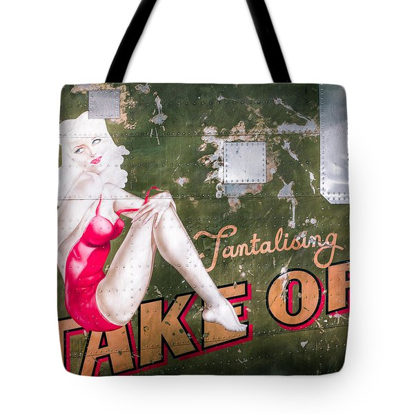 Pinup Girl - Aircraft Nose Art - Take Off Anne Tote Bag by Gary Heller