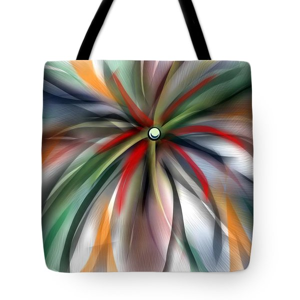 Pinwheel Abstract Tote Bag