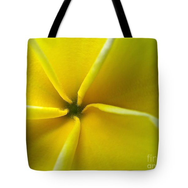 Pinwheel Plumeria Tote Bag