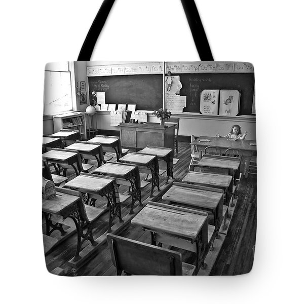 Pioneer Classroom Black And White Tote Bag
