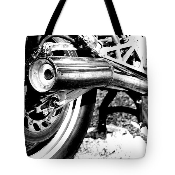 Pipe Black And White Tote Bag by David S Reynolds