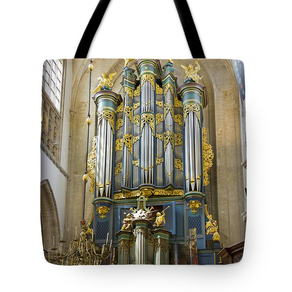 Pipe Organ In Breda Grote Kerk Tote Bag