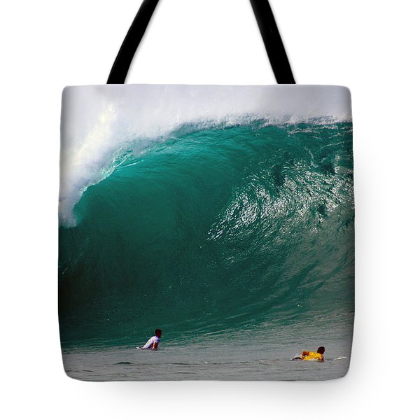 Pipeline Wave Hawaii Tote Bag by Kevin Smith