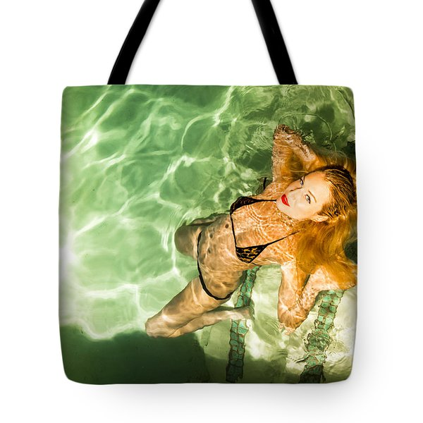 Wet Piper Precious No73-5824 Tote Bag by Amyn Nasser