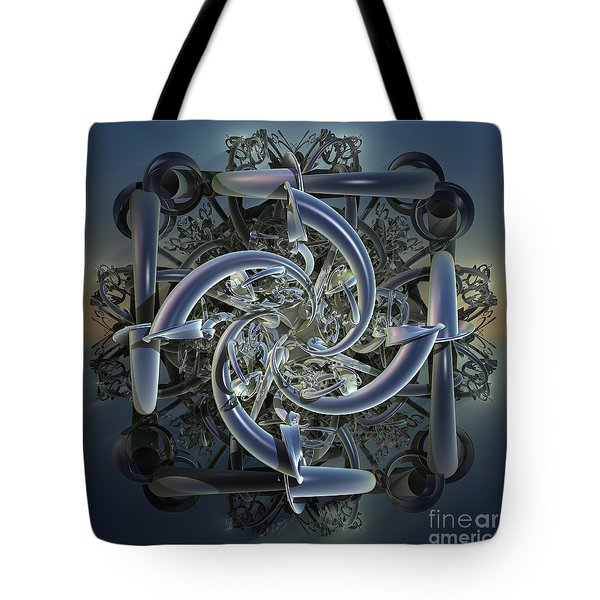 Pipes In Blue Tote Bag