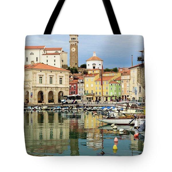 Piran, Primorska, Slovenia. View Tote Bag