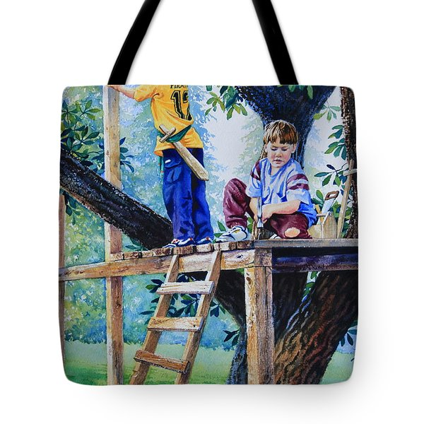 Pirate Fort Tote Bag by Hanne Lore Koehler