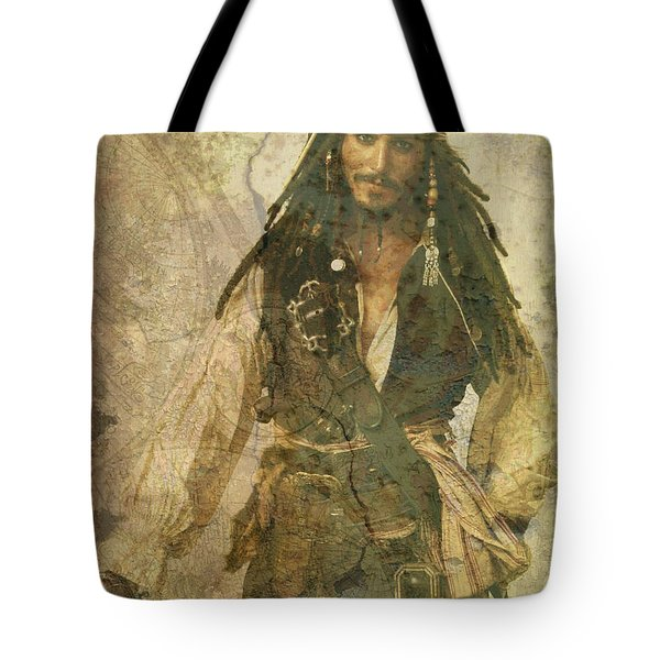 Pirate Johnny Depp - Steampunk Tote Bag