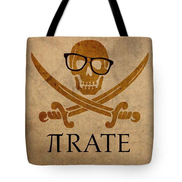 Pirate Math Nerd Humor Poster Art Tote Bag