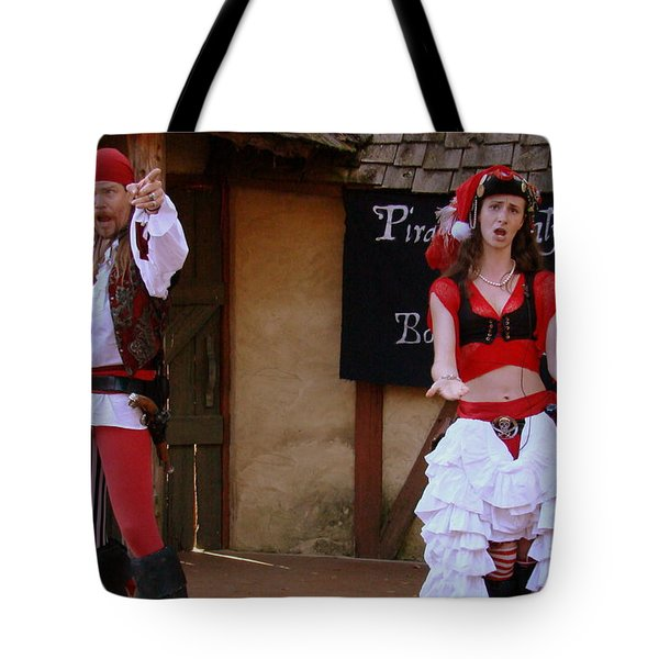 Pirate Shantyman And Bonnie Lass Tote Bag