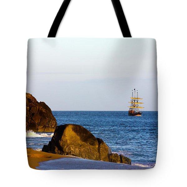 Pirate Ship In Cabo Tote Bag