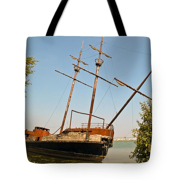 Tote Bag featuring the photograph Pirate Ship Or Sailing Ship by Sue Smith