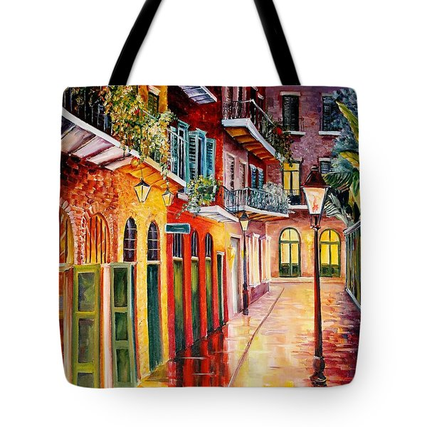 Pirates Alley By Night Tote Bag by Diane Millsap