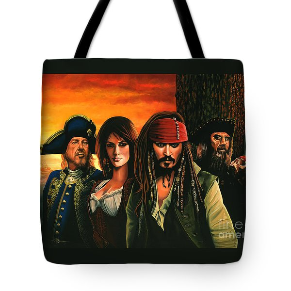 Pirates Of The Caribbean  Tote Bag by Paul Meijering