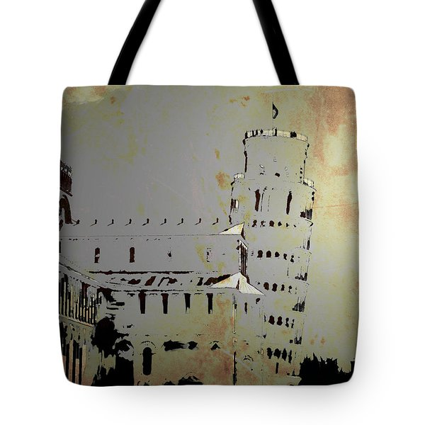 Tote Bag featuring the digital art Pisa Italy 1 by Brian Reaves