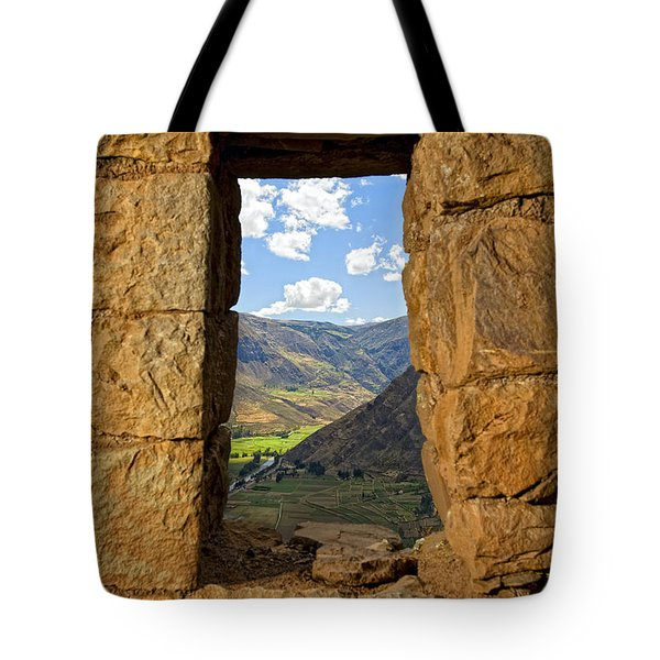 Pisac Ruins Tote Bag by Alexey Stiop