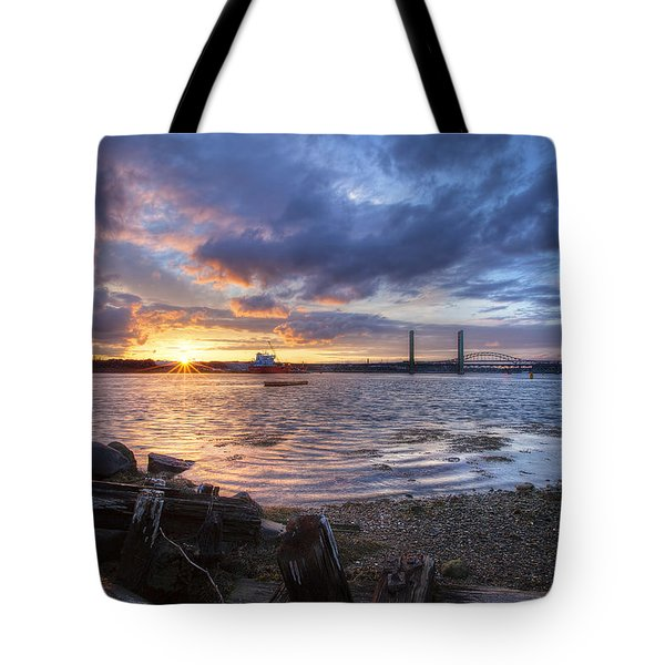 Piscataqua Sunset Tote Bag by Eric Gendron