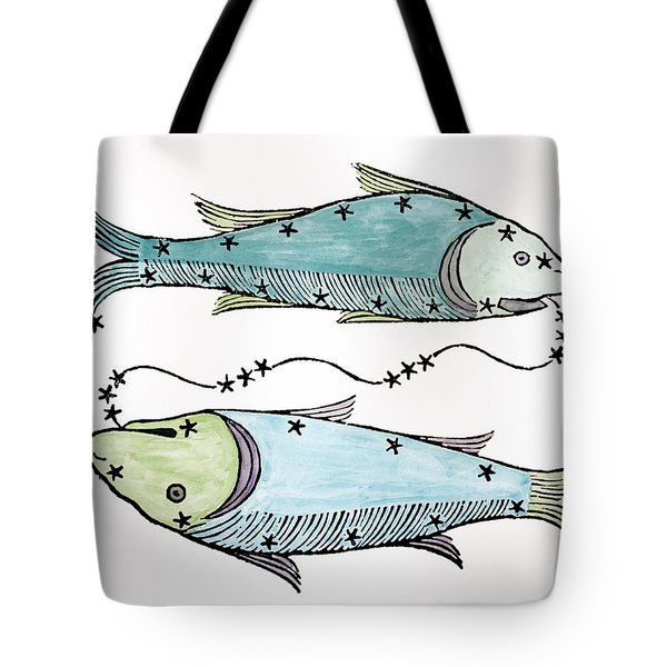 Pisces An Illustration Tote Bag by Italian School