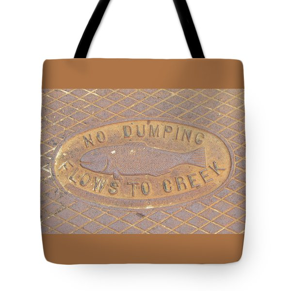 Pisces Manhole Tote Bag