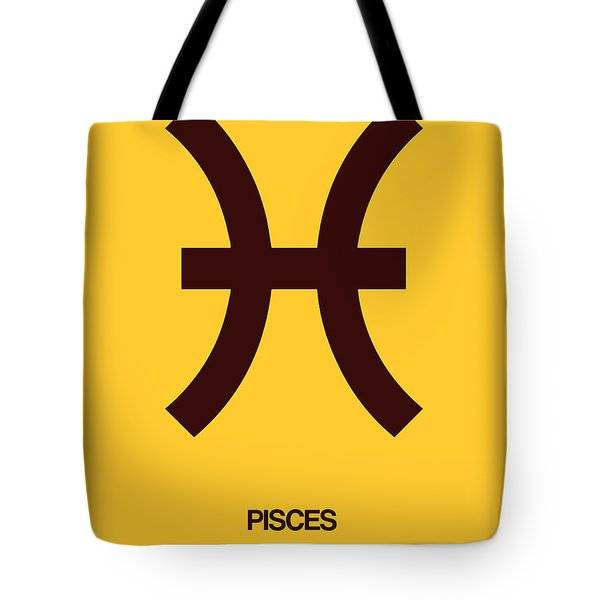 Pisces Zodiac Sign Brown Tote Bag