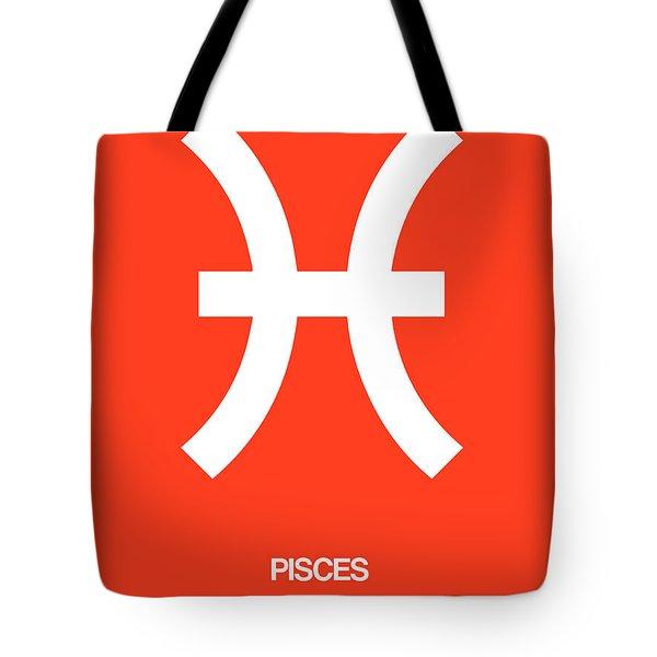 Pisces Zodiac Sign White Tote Bag