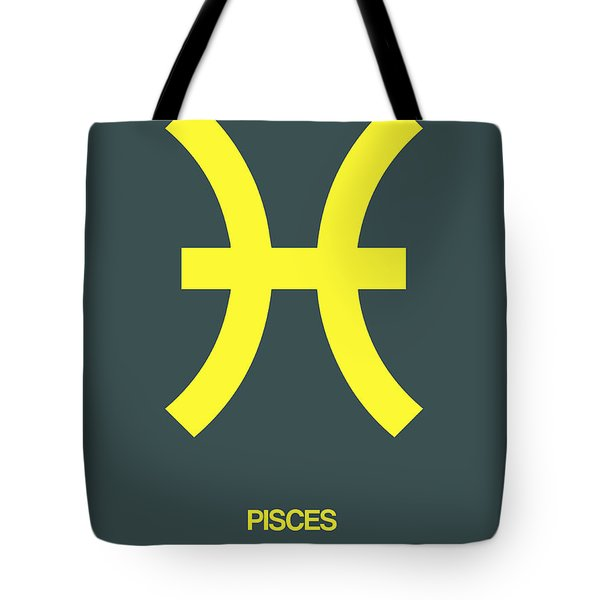Pisces Zodiac Sign Yellow Tote Bag
