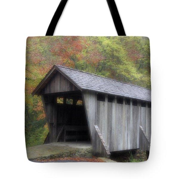 Pisgah Covered Bridge Tote Bag by Karol Livote