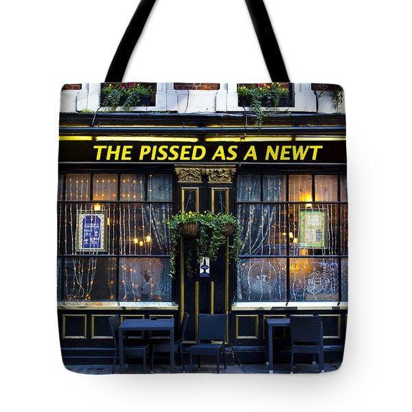 Pissed As A Newt Pub  Tote Bag