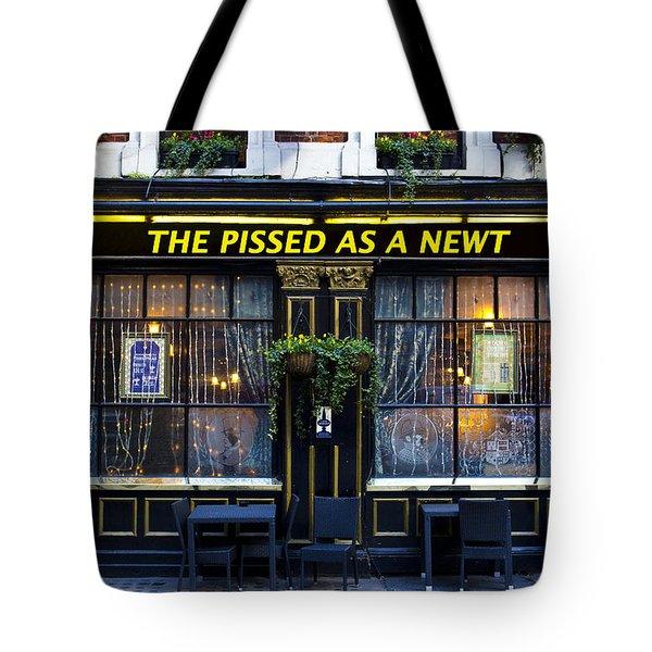 Pissed As A Newt Pub  Tote Bag by David Pyatt