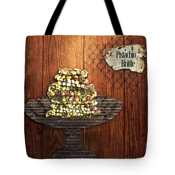 Tote Bag featuring the photograph Pistachio Brittle by Paula Ayers