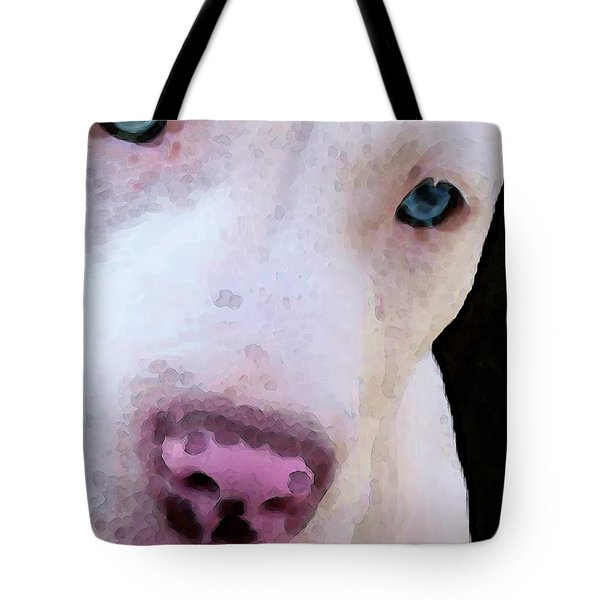 Pit Bull Art - Not A Fighter Tote Bag