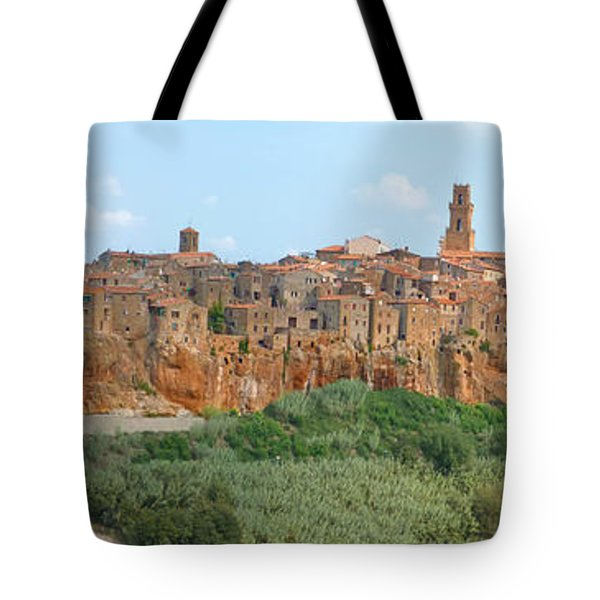 Pitigliano Panorama Tote Bag by Alan Socolik
