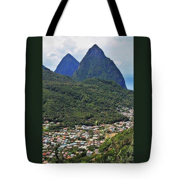 Pitons Tote Bag