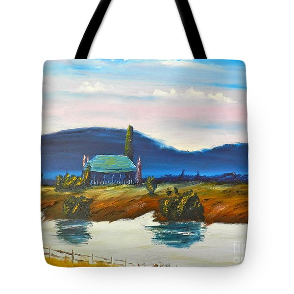Tote Bag featuring the painting Pittown by Pamela  Meredith