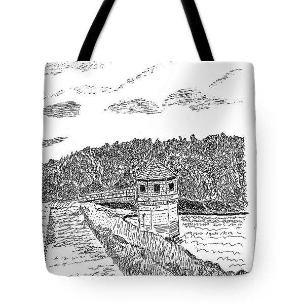 Pittsburg Dam Tote Bag