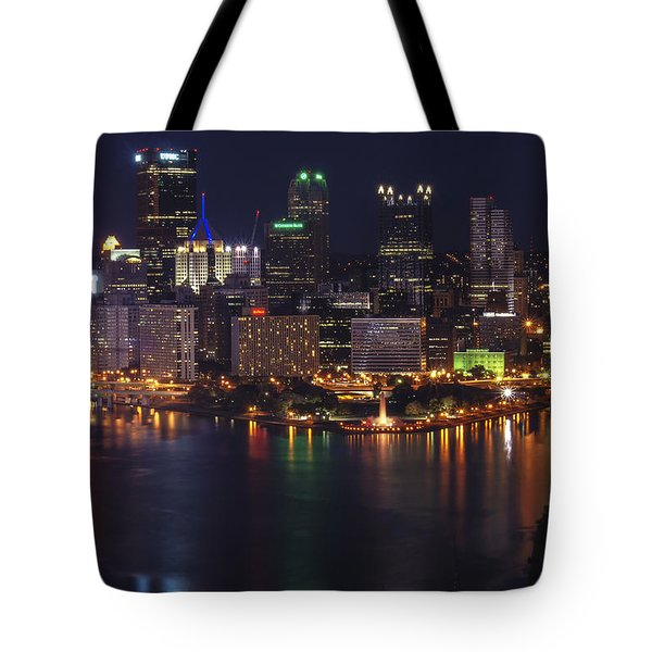 Tote Bag featuring the photograph Pittsburgh After The Setting Sun by Michelle Joseph-Long