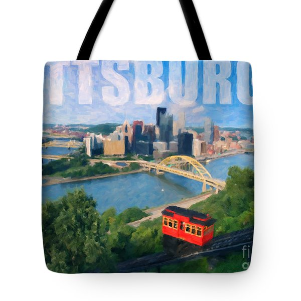 Pittsburgh Digital Painting Tote Bag by Sharon Dominick