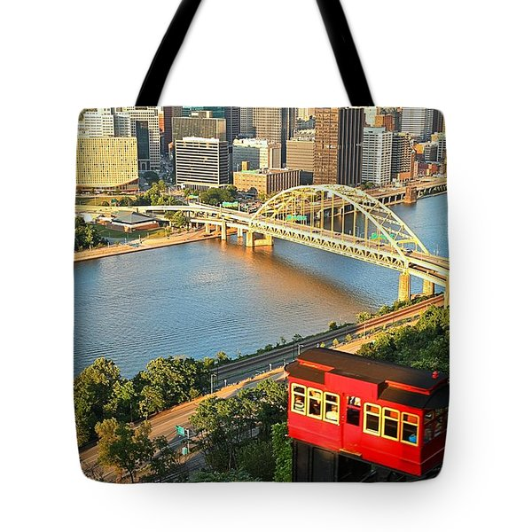 Pittsburgh Duquesne Incline Tote Bag