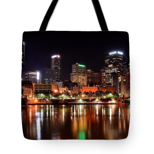 Pittsburgh Panorama Tote Bag by Frozen in Time Fine Art Photography