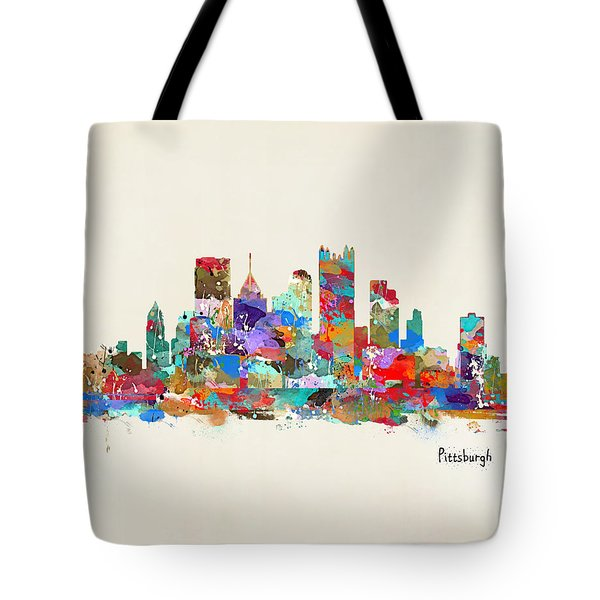 Pittsburgh Skyline Pennsylvania Tote Bag