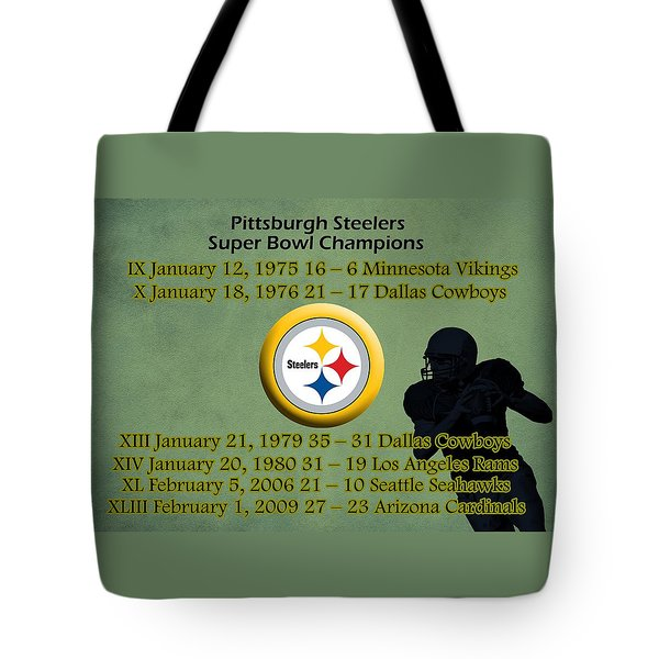 Pittsburgh Steelers Super Bowl Wins Tote Bag
