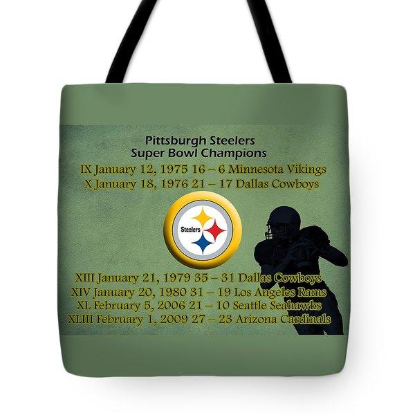 Pittsburgh Steelers Super Bowl Wins Tote Bag