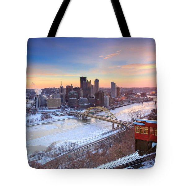 Pittsburgh Winter 2 Tote Bag by Emmanuel Panagiotakis