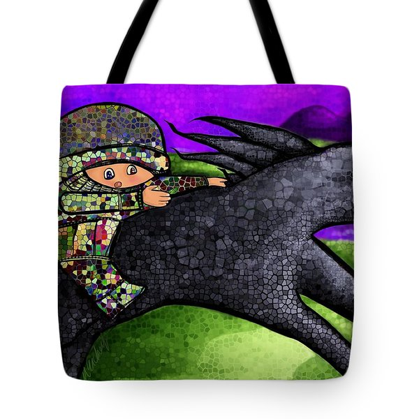 Pixel's Wild Ride Tote Bag