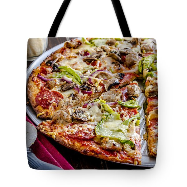 Pizza For Dinner Tote Bag