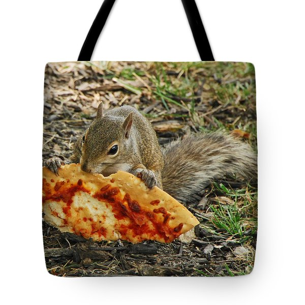 Pizza For  Lunch Tote Bag by Mary Carol Story